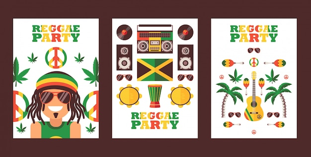 Convite para festa de reggae