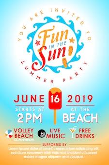 Convite para festa de verão