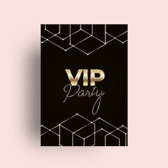 Convite para festa vip de ouro