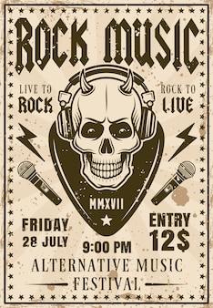 Convite para festival de música rock