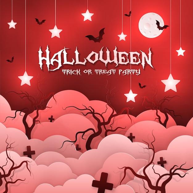 Convite para o feriado de halloween, estilo de jornal.