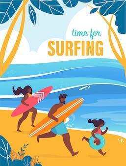 Convite para panfleto é escrito para surf