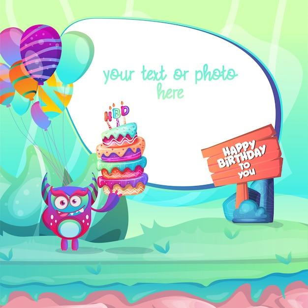 Convite para uma festa de aniversário festiva