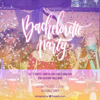 Convite para uma festa de despedida de solteira