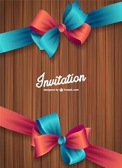 Convite textura de madeira vetor