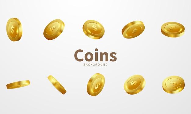 Convite vip de luxo do casino de moedas de ouro com confete