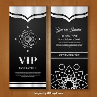 Convite vip de luxo