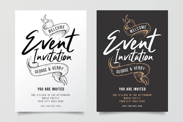 Convites de casamento com decorações fabulosas da fita
