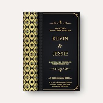 Convites de casamento elegantes com formas ornamentais elegantes