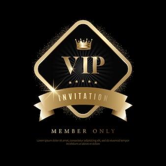 Convites de vip de luxo e fundos de cupom