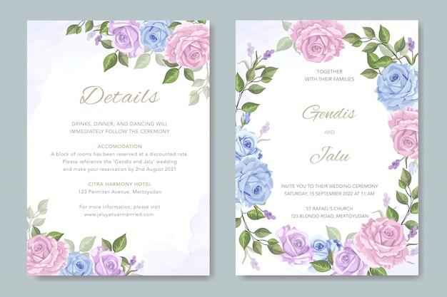 Convites do casamento das flores do vintage