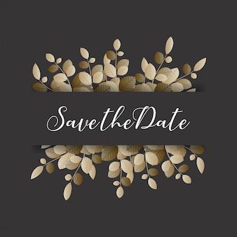 Convites florais elegantes do casamento