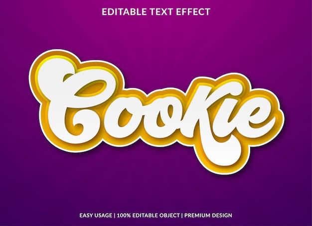 Cookie texto efeito modelo design estilo premium