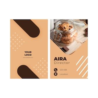 Cookies cartão de visita dupla-face v