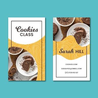 Cookies de cartão de visita dupla-face