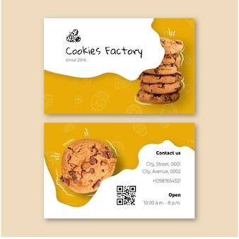 Cookies de cartão dupla face
