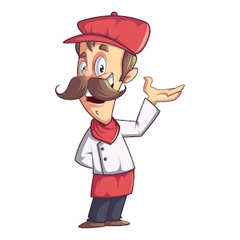 Cool chef mascot vector design