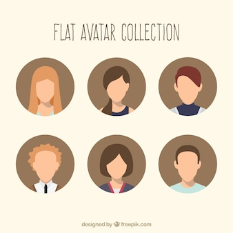 Cool conjunto de avatares
