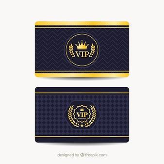 Cool conjunto de cartões vip