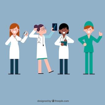Cool conjunto de médicos divertidos