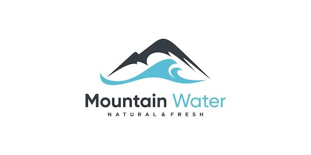 Cool line art mountain logo design inspiração idéias mínimas premium vector