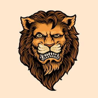 Cool lion head