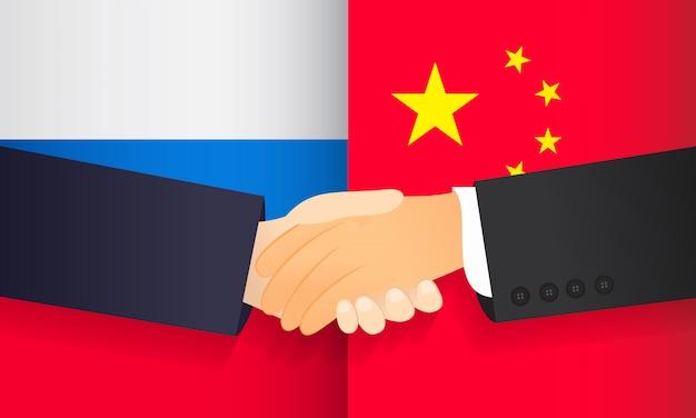 Cooperação entre a china e a rússia.