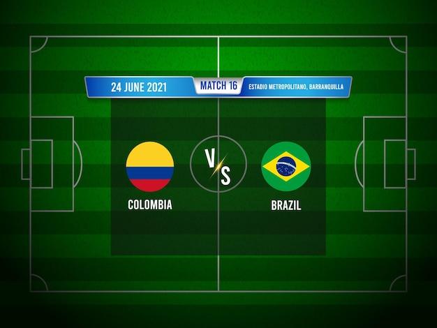 Copa américa futebol jogo colômbia x brasil
