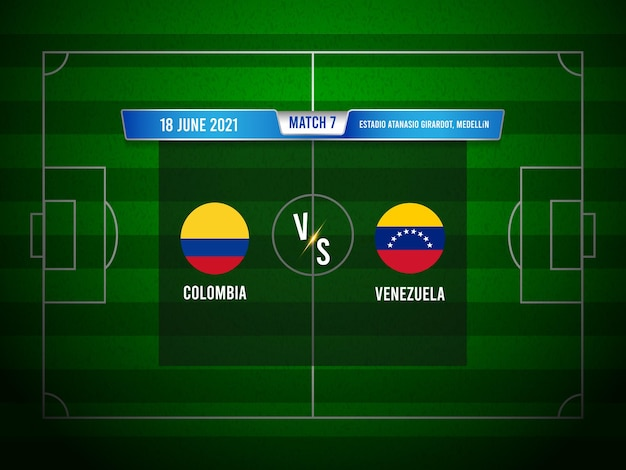 Copa américa futebol partida colômbia x venezuela