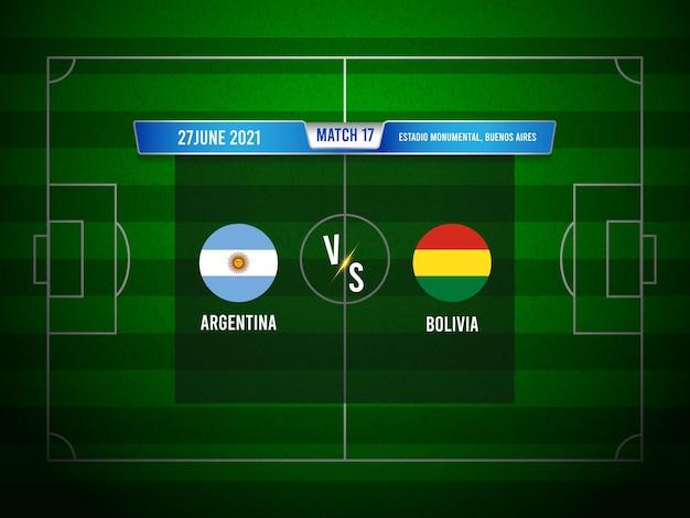 Copa américa jogo de futebol argentina x bolívia