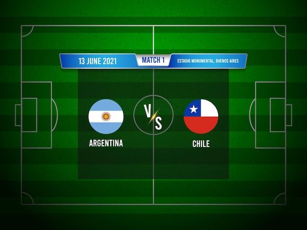 Copa américa jogo de futebol argentina x chile