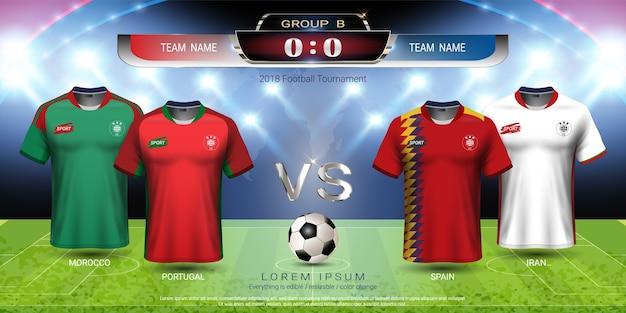 Copa de futebol 2018 grupo de equipe b