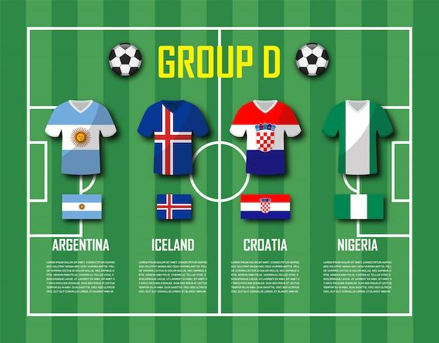 Copa de futebol 2018 grupo de equipe d