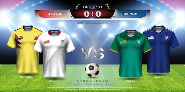 Copa de futebol 2018 grupo de equipe h