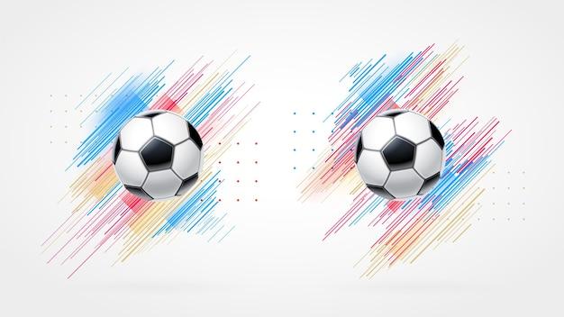 Copa de futebol, conjunto de ilustração de campeonato de futebol