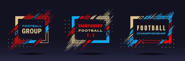 Copa de futebol, ilustração de campeonato de futebol
