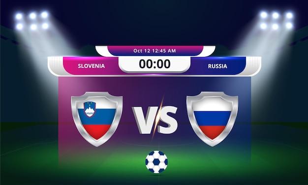 Copa do mundo da fifa - qualificatória 2022 da eslovênia x rússia
