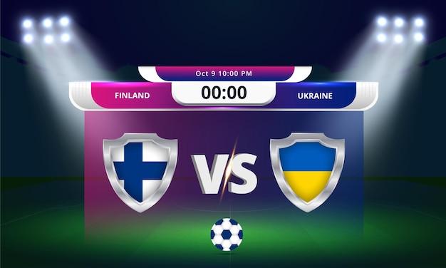Copa do mundo da fifa - qualificatória 2022 - partida de futebol da finlândia x ucrânia