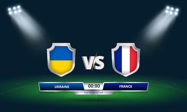 Copa do mundo da fifa - qualificatória 2022 ucrânia x frança - partida de futebol