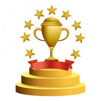 Copa do troféu com estrelas