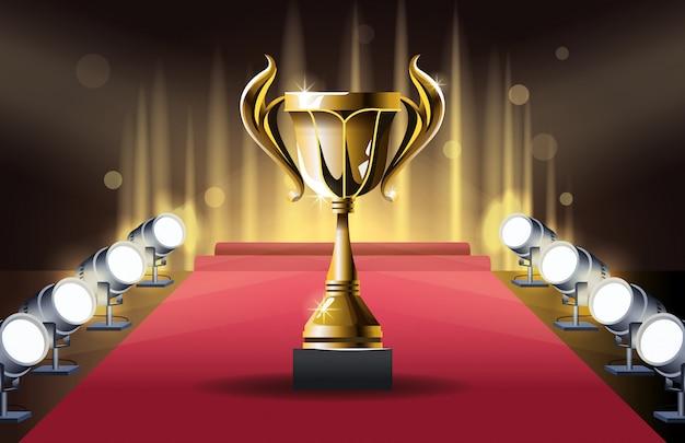 Copa do troféu de prêmios de filmes