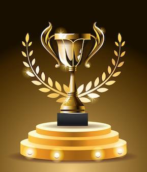 Copa do troféu de prêmios de filmes Vetor Premium