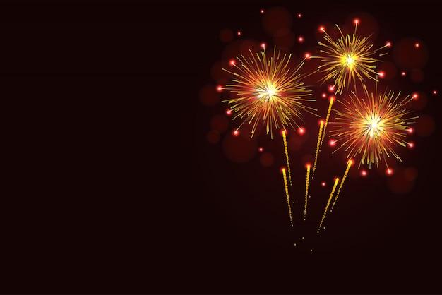 Cópia de espumante dourado fogos de artifício