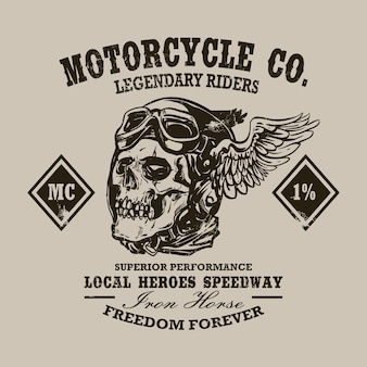 Cópia feita sob encomenda da motocicleta do vintage