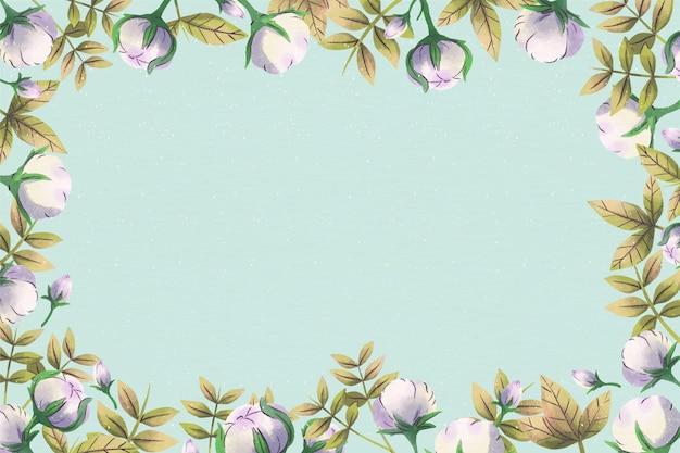 Cópia vazia fundo floral