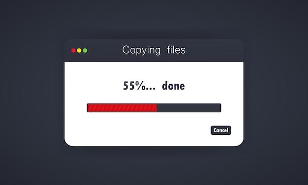 Copiar arquivos ou processo de transferência de arquivos