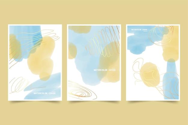 Copiar capas de aquarela gradiente de espaço