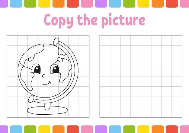 Copie a foto. livro de colorir para crianças. planilha de desenvolvimento de educação.