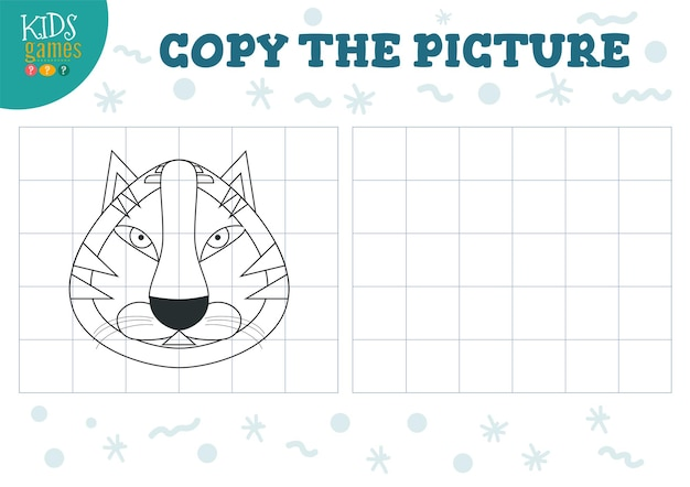 Copie a ilustração da imagem. jogo educativo para crianças pré-escolares.