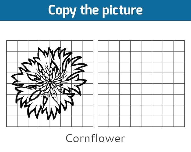 Copie a imagem, jogo educativo para crianças, cornflower